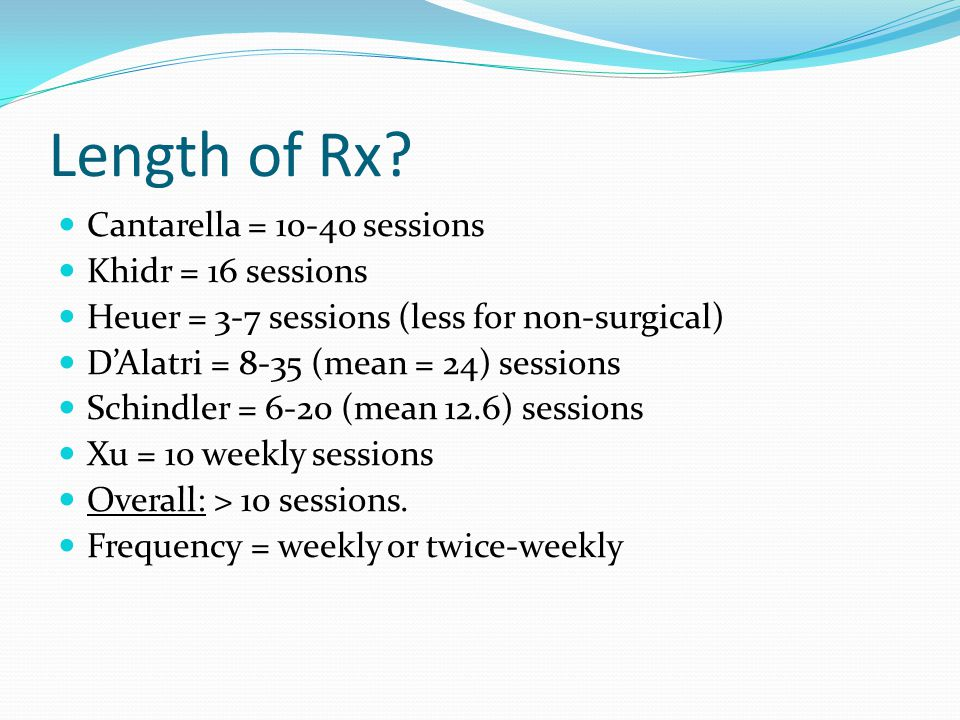Length of Rx.