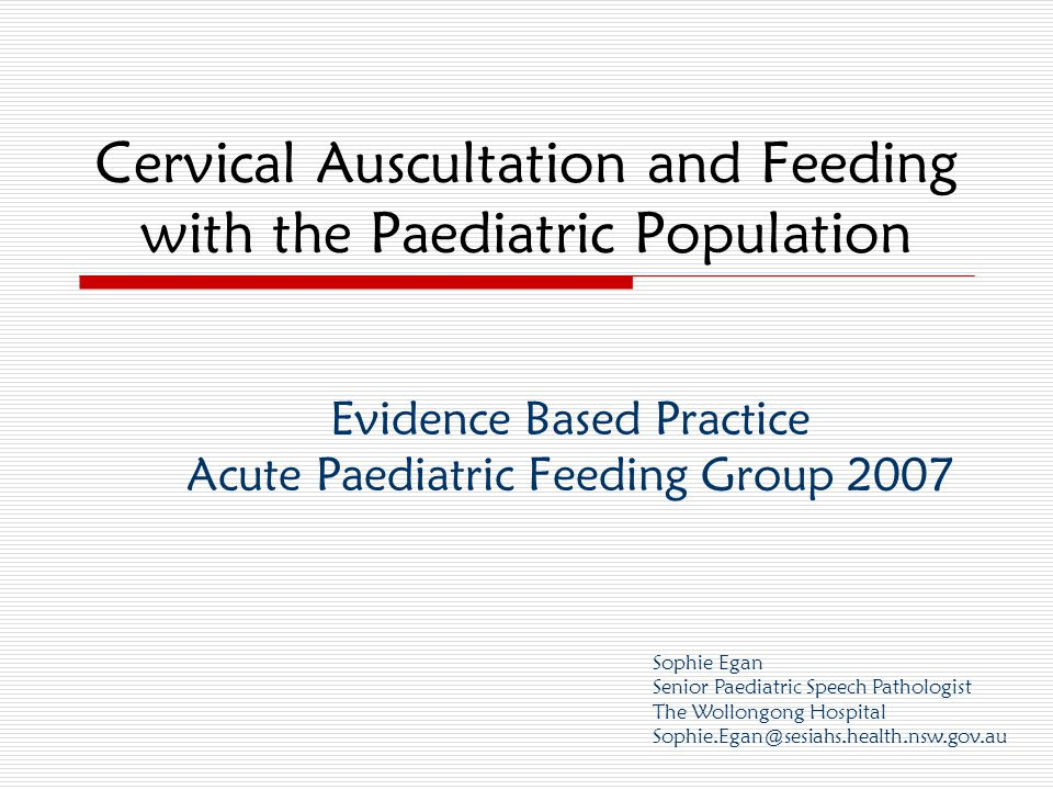 December 2007EBP Extravaganza - Acute Paediatric Feeding 12 SUMMARY –what we found Predominantly Level IV evidence Methodology different in ALL studies - & use of high technology, research equipment  Difficult to replicate in everyday clinical practice Limited subjects in study designs Lack of control subjects Found it difficult to answer our specific question