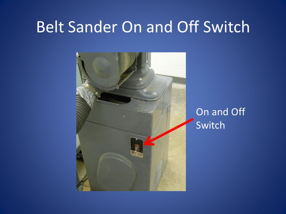 Belt Sander On and Off Switch On and Off Switch