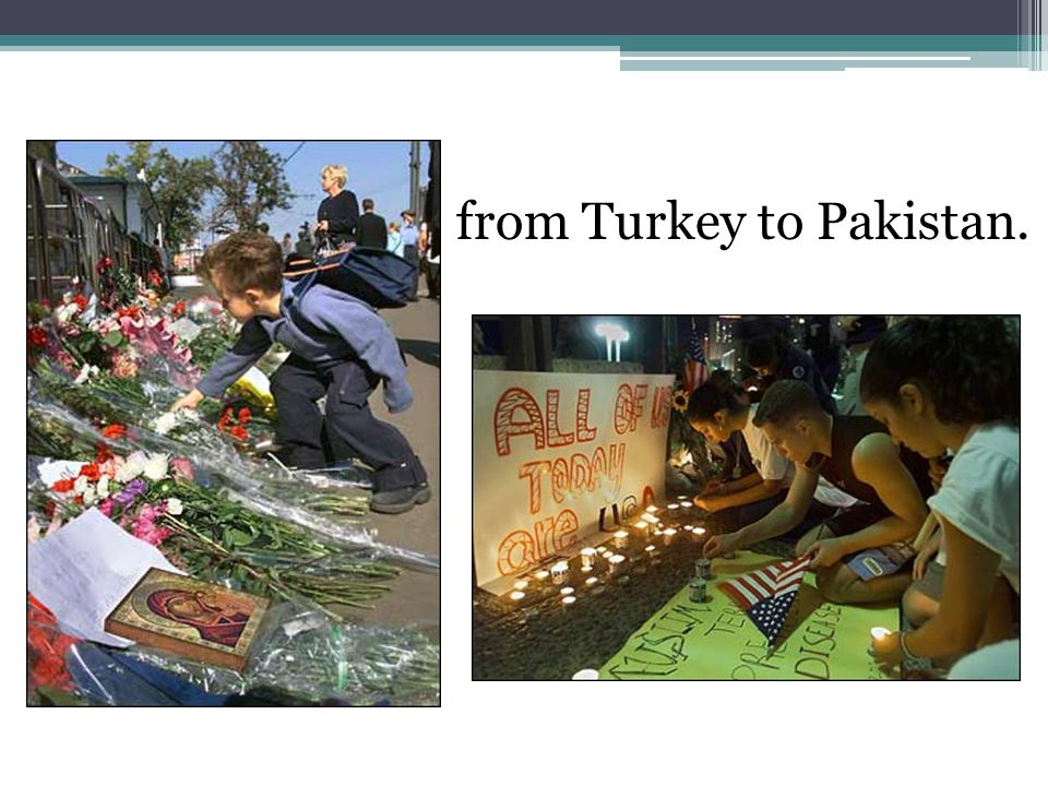from Turkey to Pakistan.