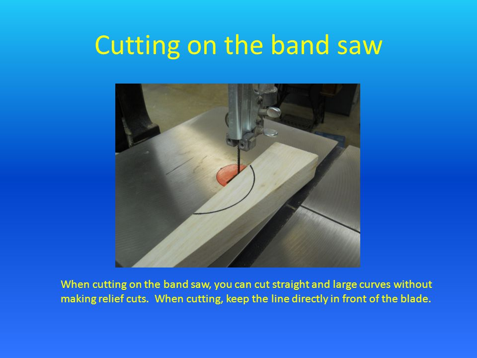 Relief Cuts When cutting angles and small curves you need to make relief cuts first.