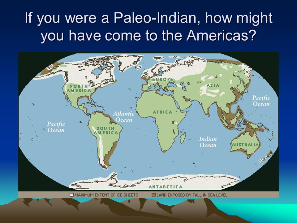 If you were a Paleo-Indian, how might you have come to the Americas?