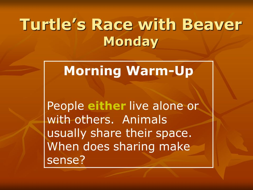 Turtle's Race with Beaver High Frequency Words toward ago word whole above enough