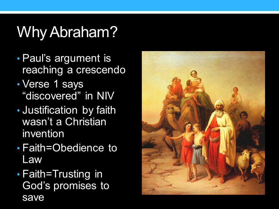 Why Abraham.