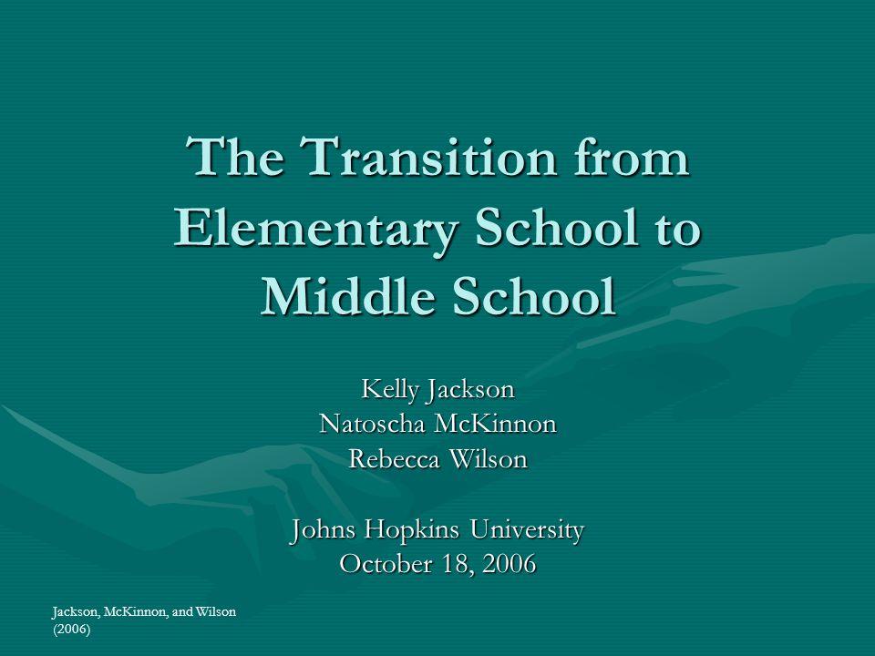 Jackson, McKinnon, and Wilson (2006) WELCOME.