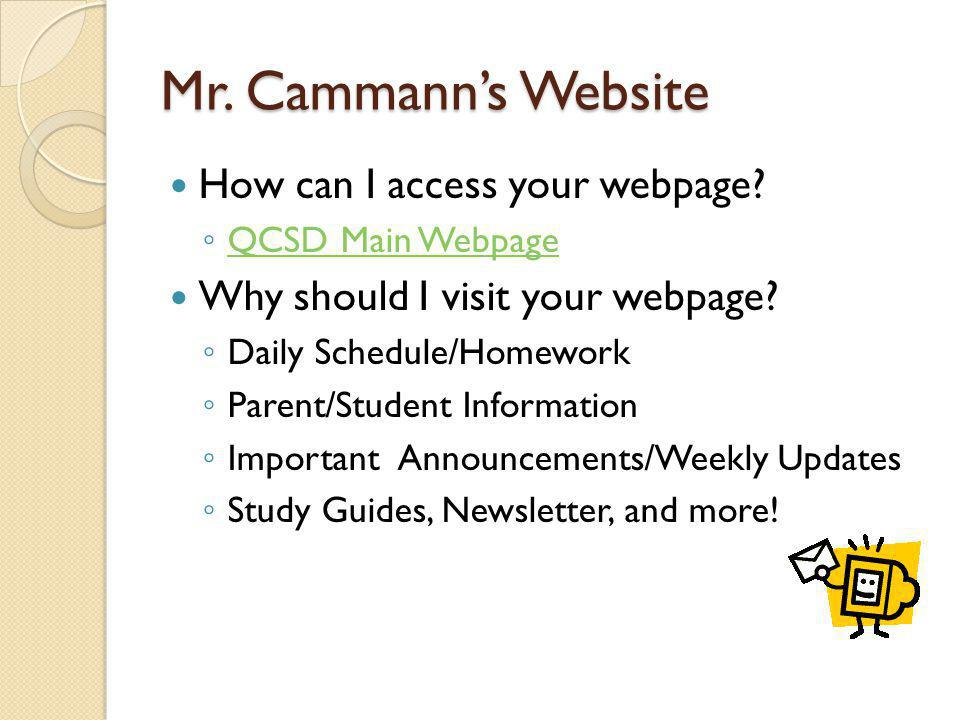 Mr. Cammann's Website How can I access your webpage.
