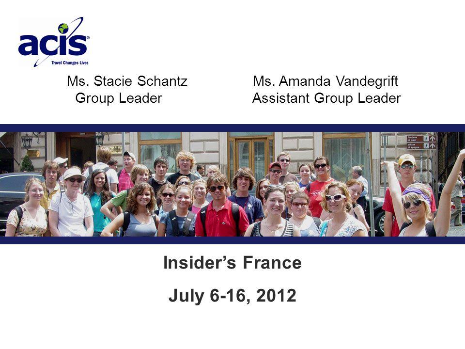 Ms. Stacie SchantzMs.
