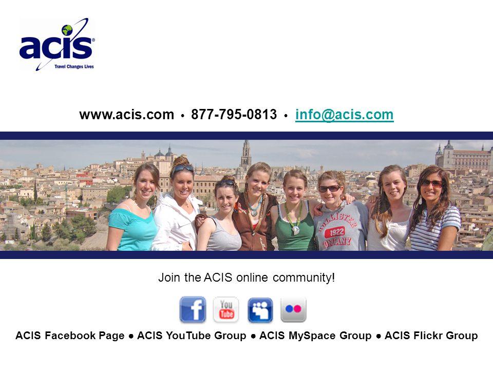 www.acis.com 877-795-0813 info@acis.cominfo@acis.com Join the ACIS online community.