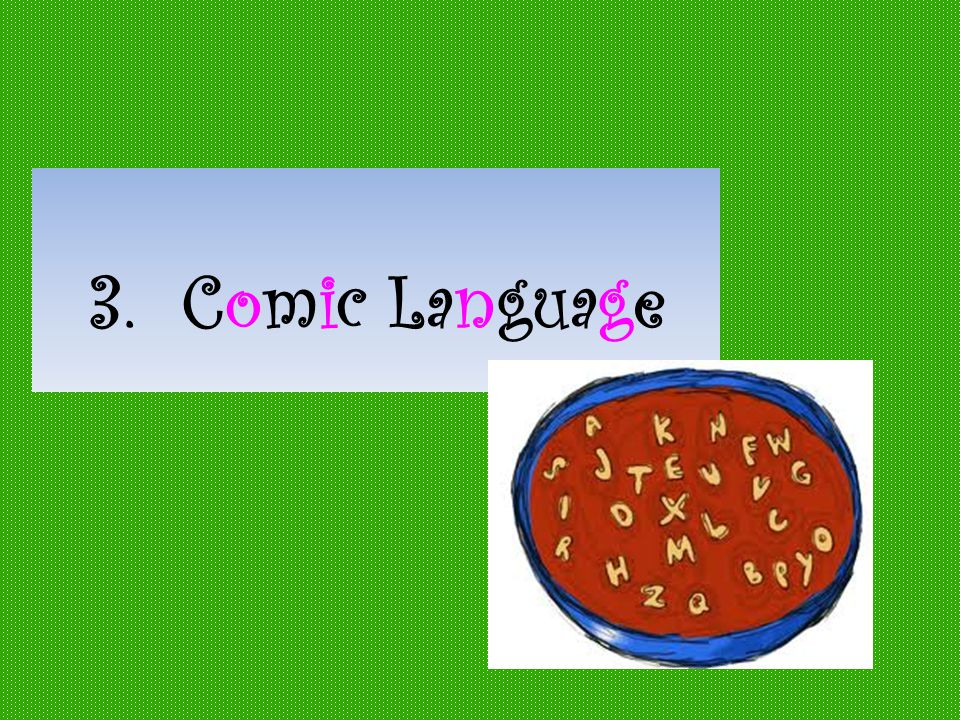 3. Comic Language