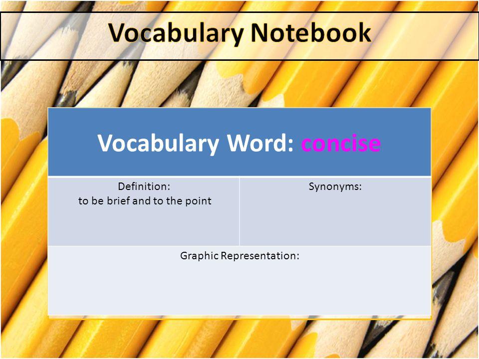 Vocabulary Essay Writing