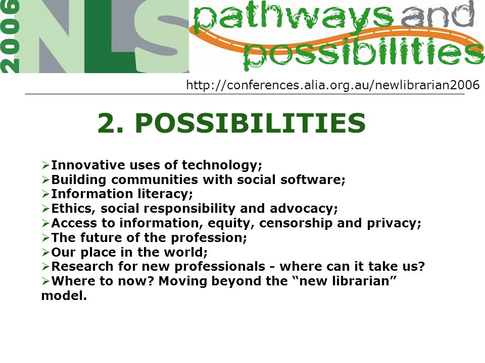 http://conferences.alia.org.au/newlibrarian2006 2.