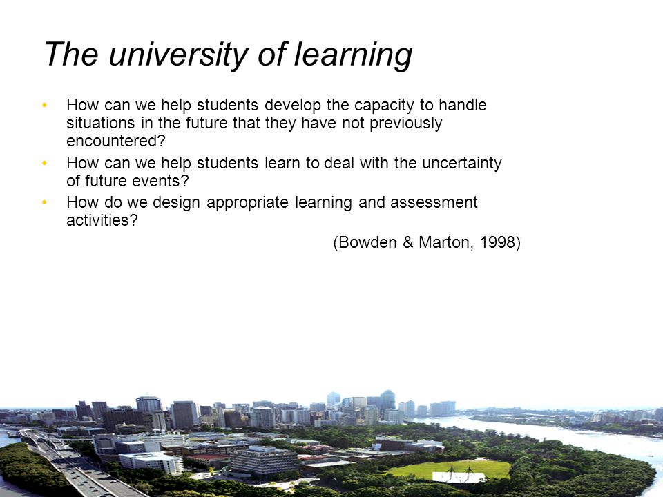 25 Bibliography Bowden, J.& Marton, F. (1998). The university of learning.