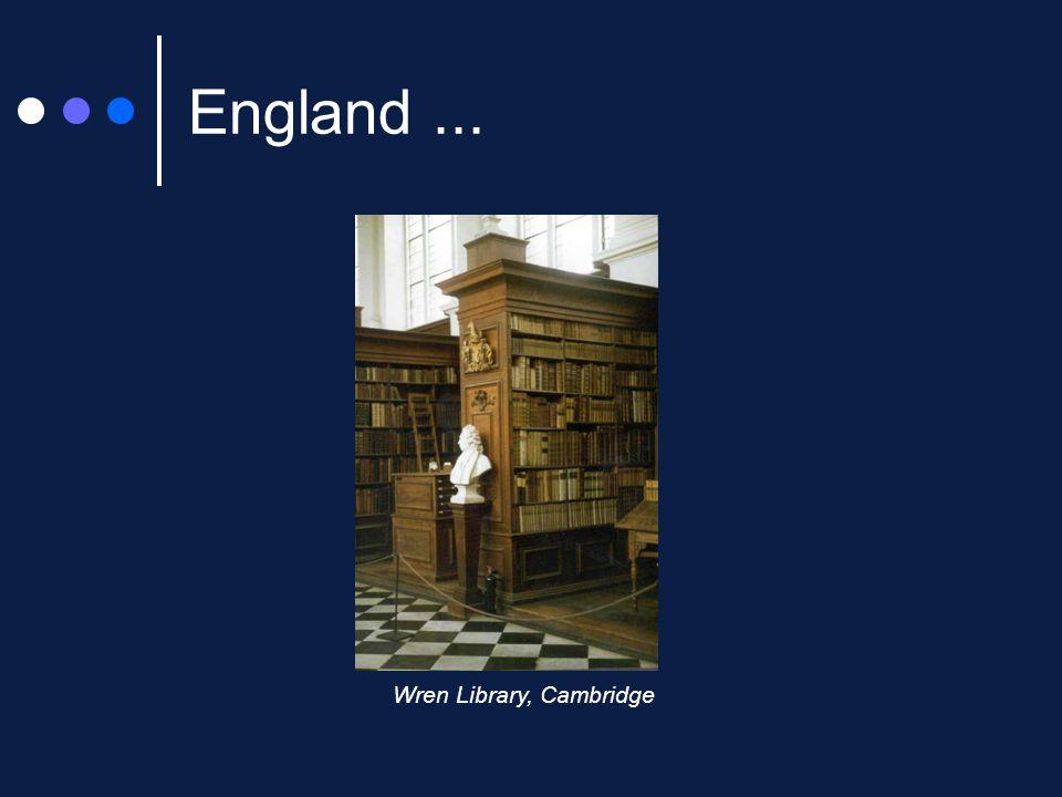 England... Wren Library, Cambridge