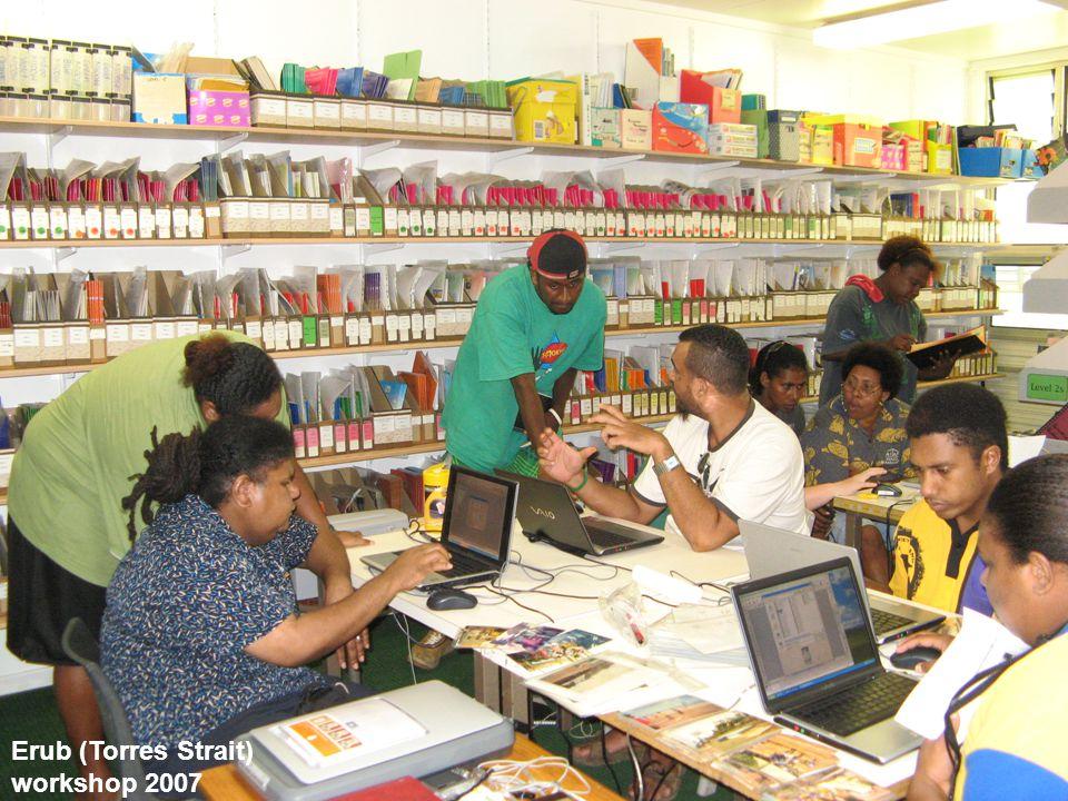 Erub (Torres Strait) workshop 2007
