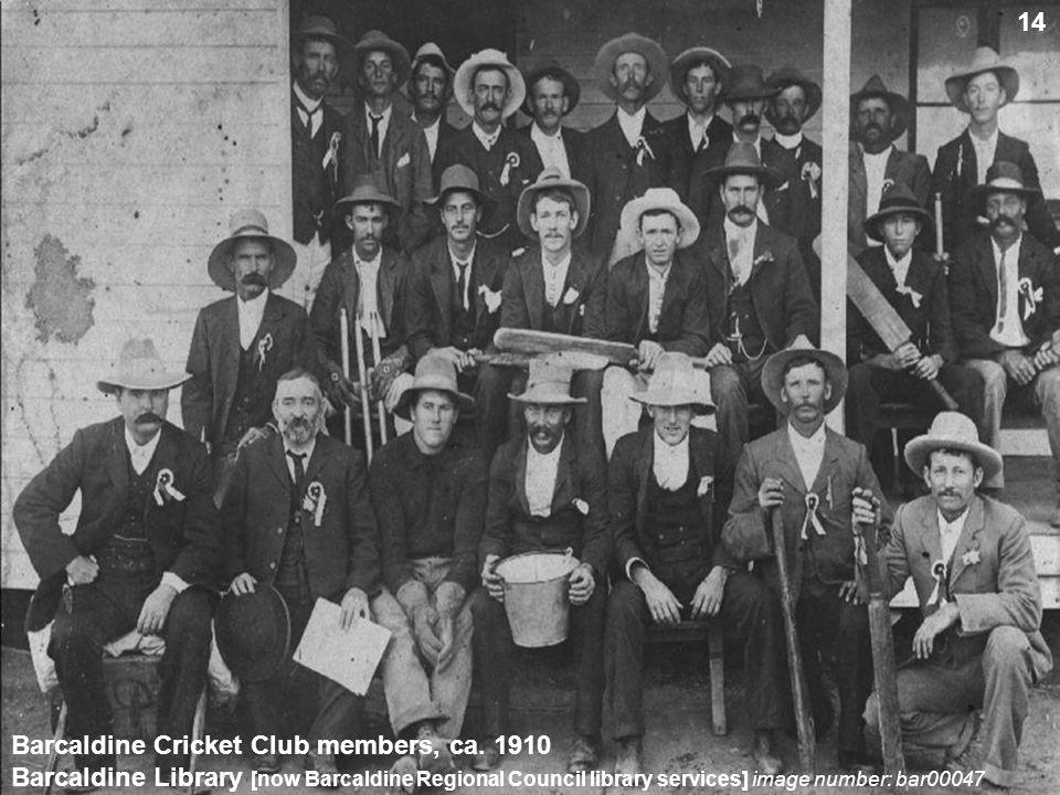 Barcaldine Cricket Club members, ca.