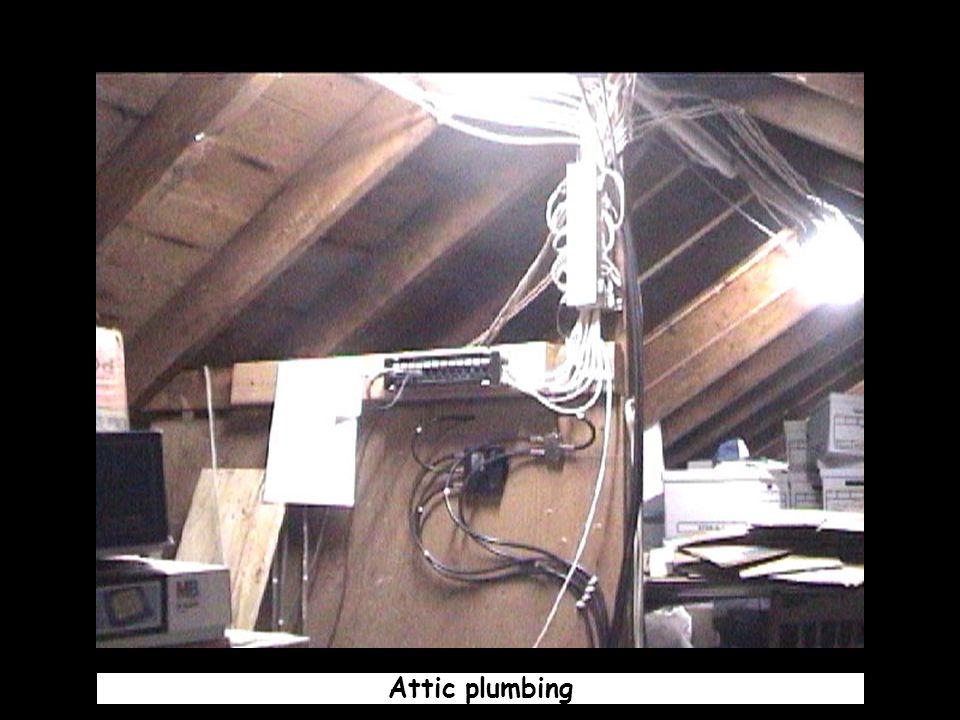 Attic plumbing