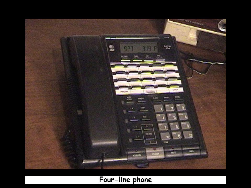 Four-line phone