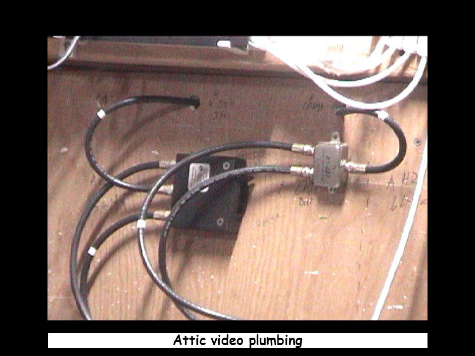 Attic video plumbing