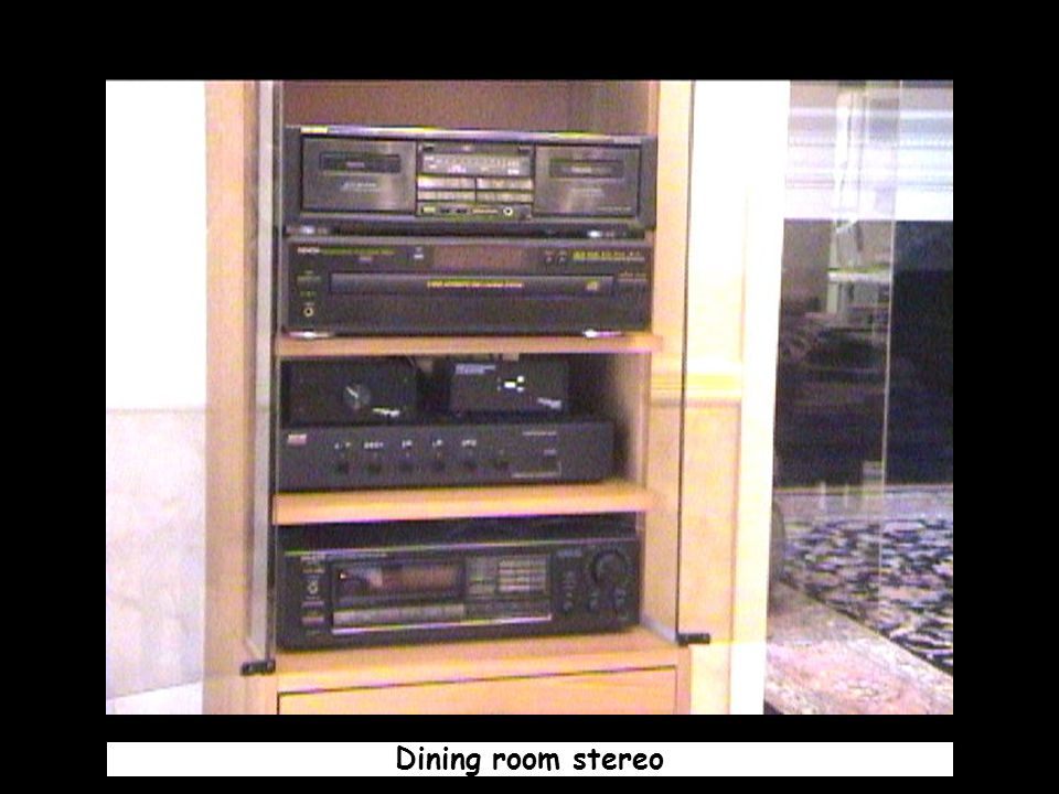 Dining room stereo