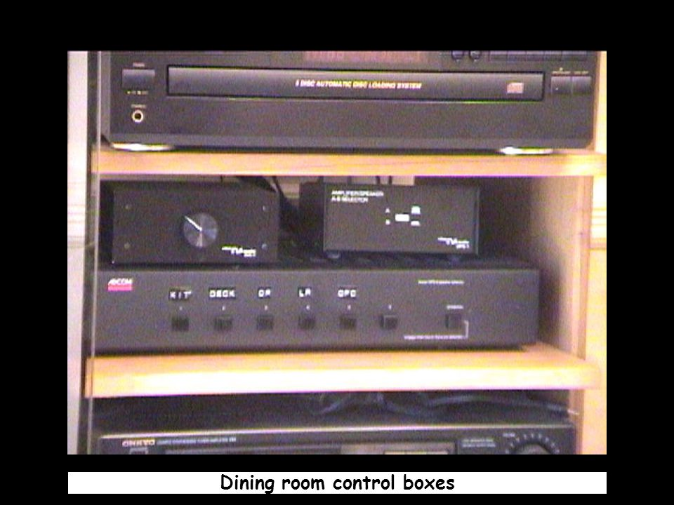 Dining room control boxes