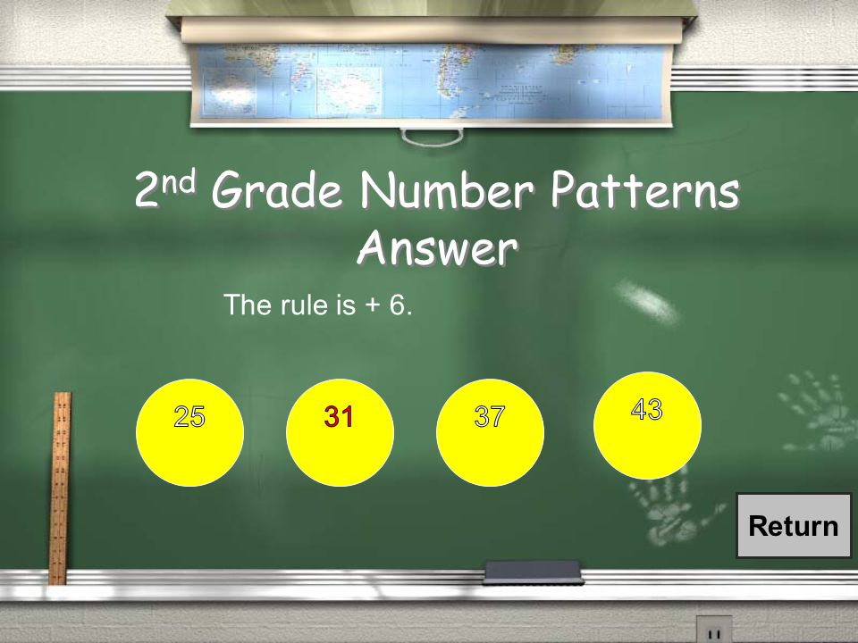 2 nd Grade Number Patterns / What is the rule to the number pattern below