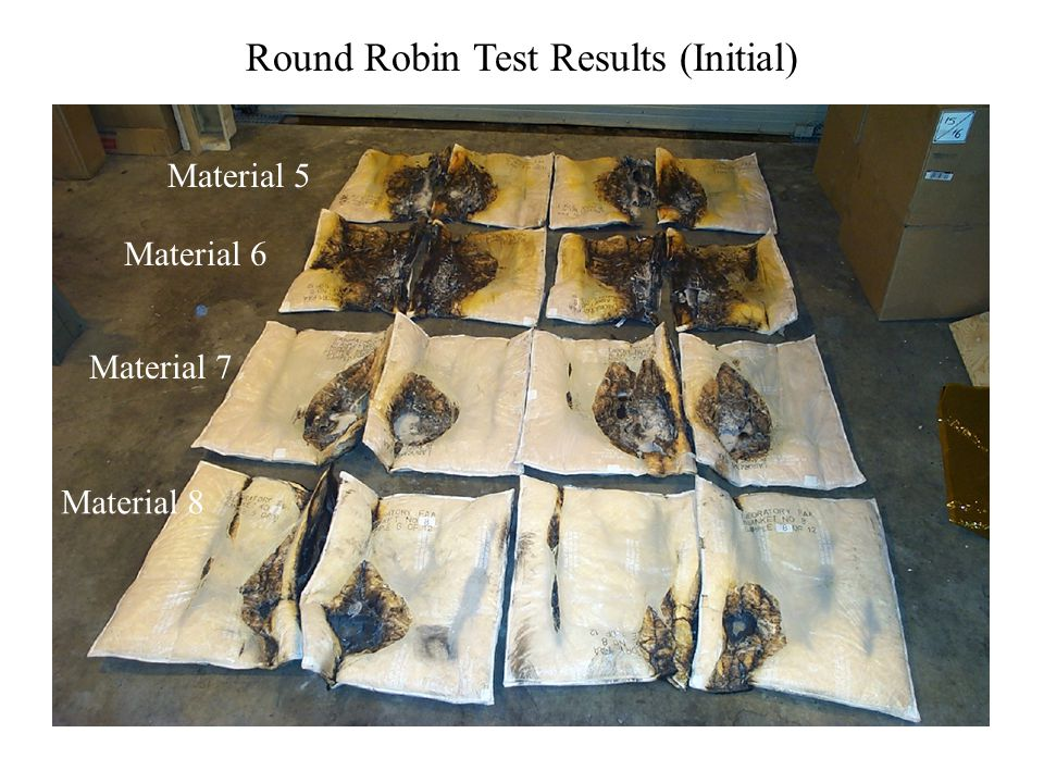 Material 5 Material 6 Material 7 Material 8 Round Robin Test Results (Initial)