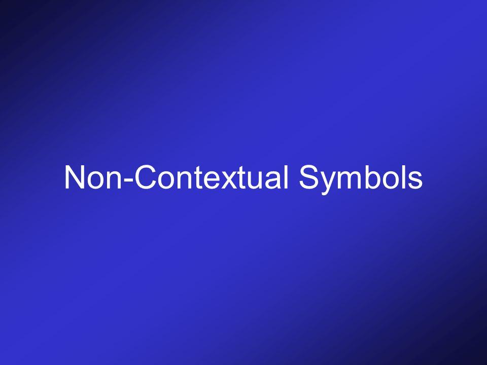 Non-Contextual Symbols