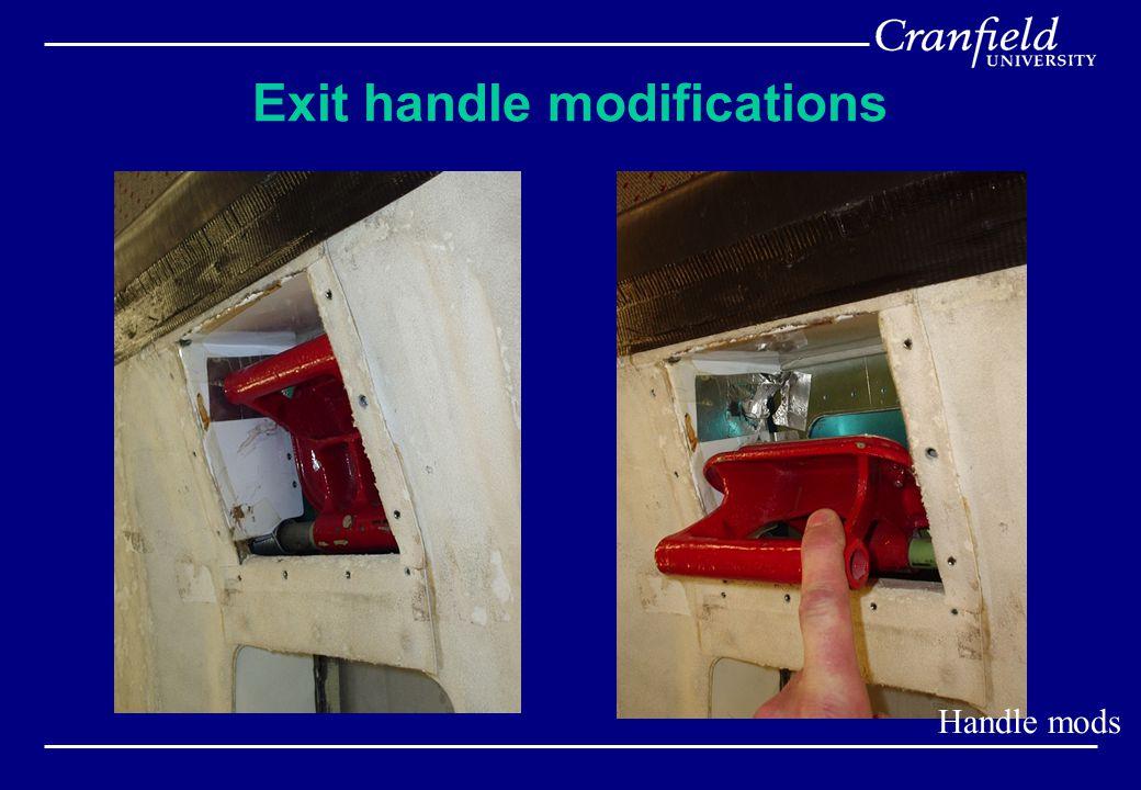 Exit handle modifications Handle mods
