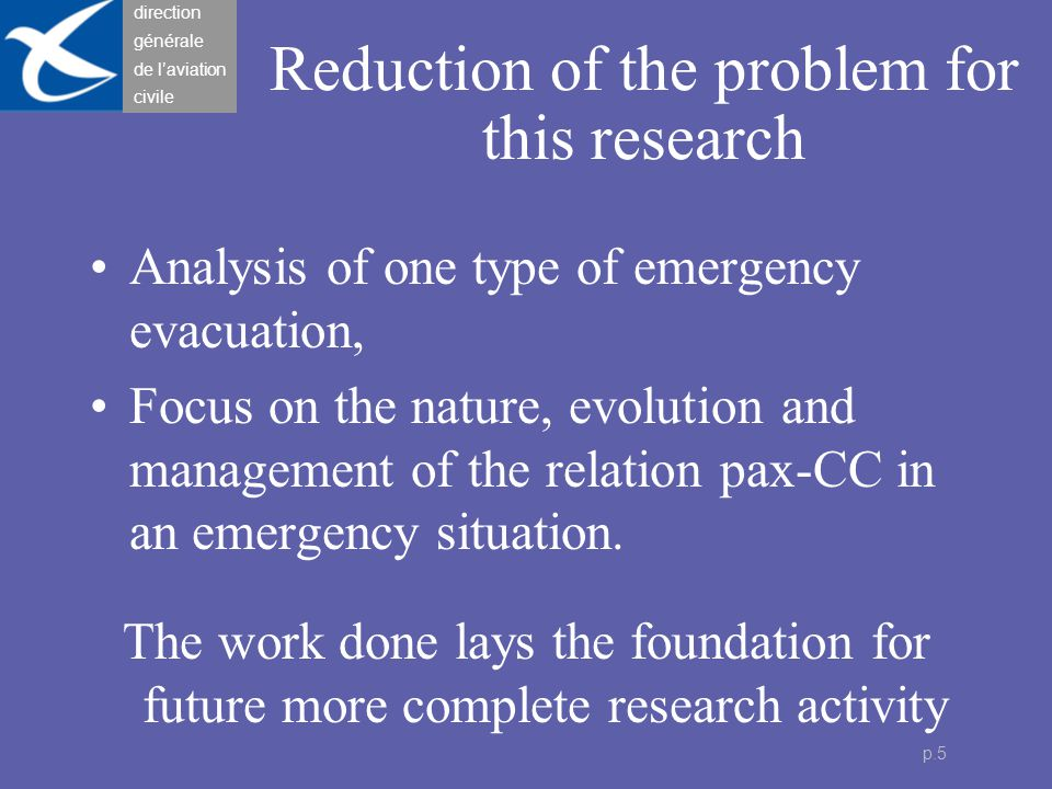 direction générale de l'aviation civile p.6 Findings from other research Sociology : The CC collective .