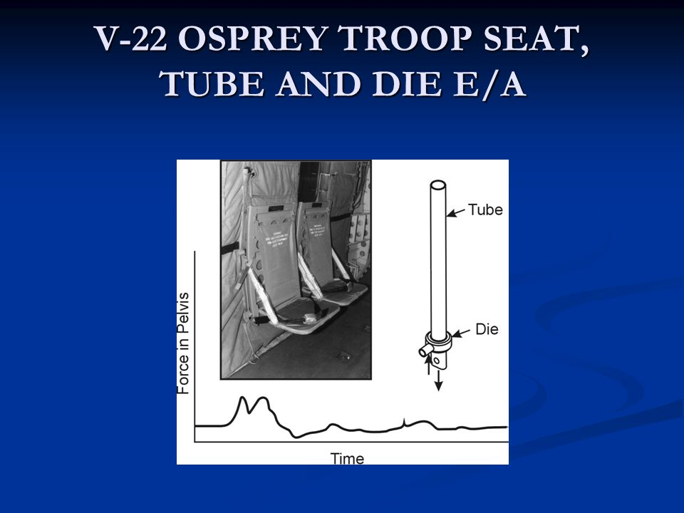 V-22 OSPREY TROOP SEAT, TUBE AND DIE E/A