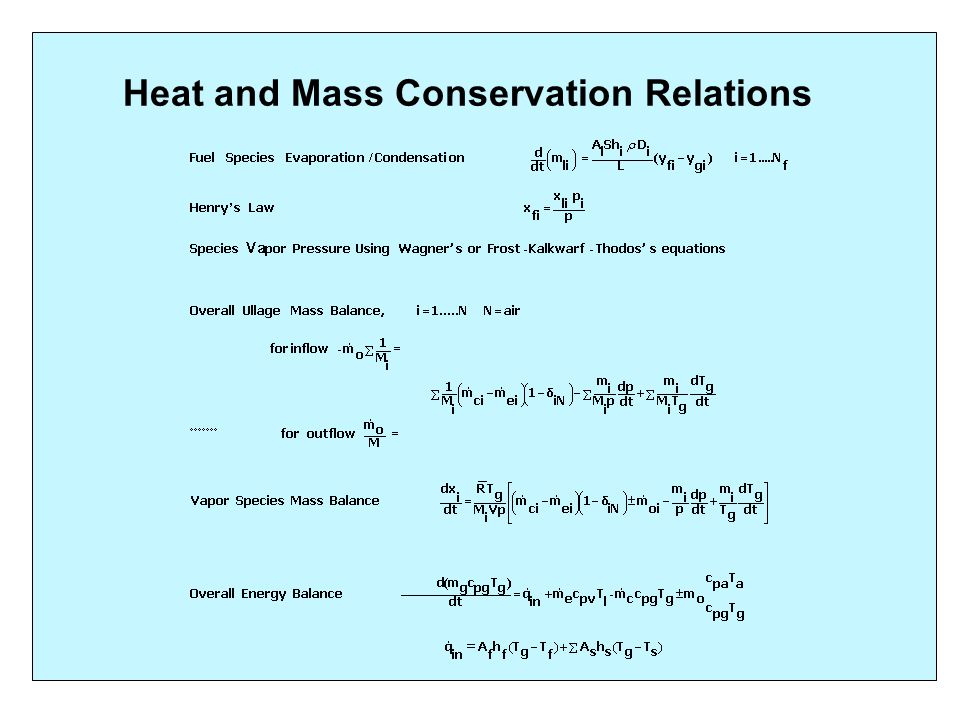 Heat and Mass Transfer Correlations