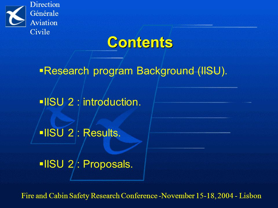 Contents  Research program Background (IISU).  IISU 2 : introduction.