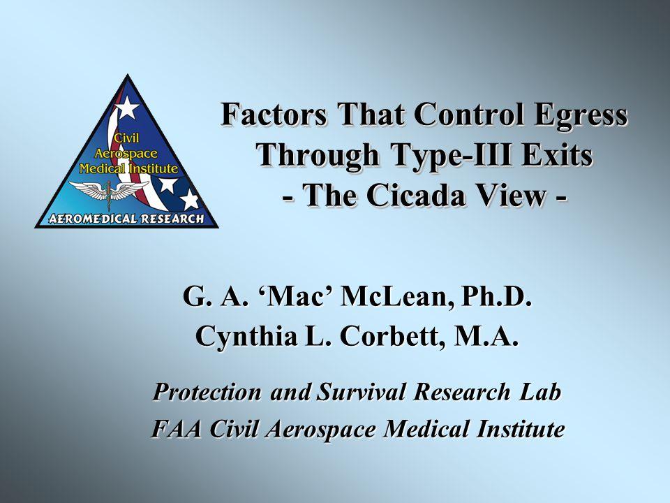 Factors That Control Egress Through Type-III Exits - The Cicada View - G.