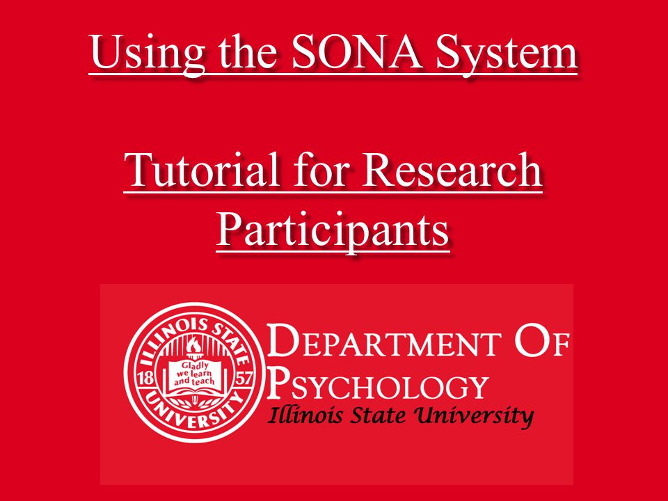 Using the SONA System Tutorial for Research Participants