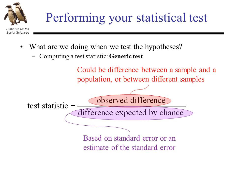 Statistics for the Social Sciences +3.18 = t crit - Reject H 0 Performing your statistical test What are all of these D's referring to.