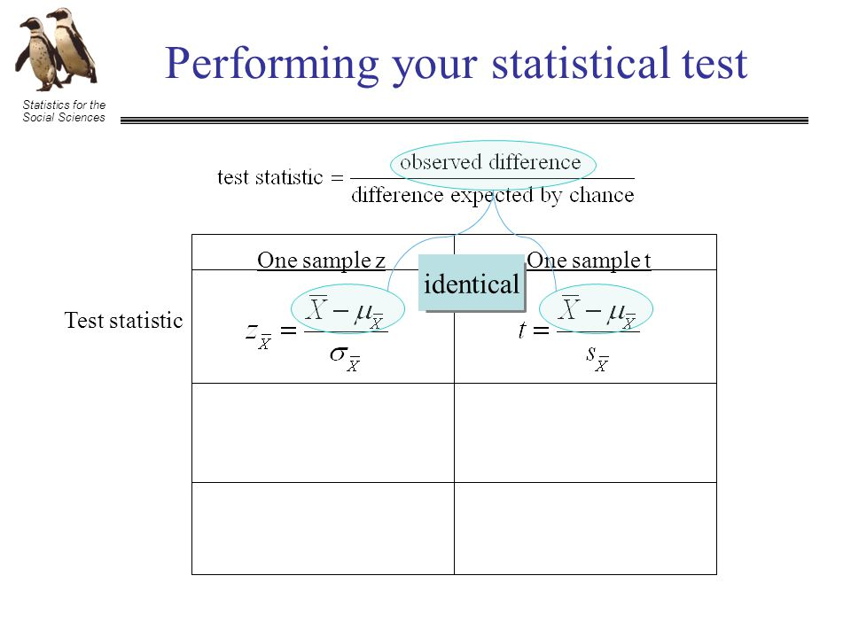 Statistics for the Social Sciences Performing your statistical test What are all of these D's referring to.