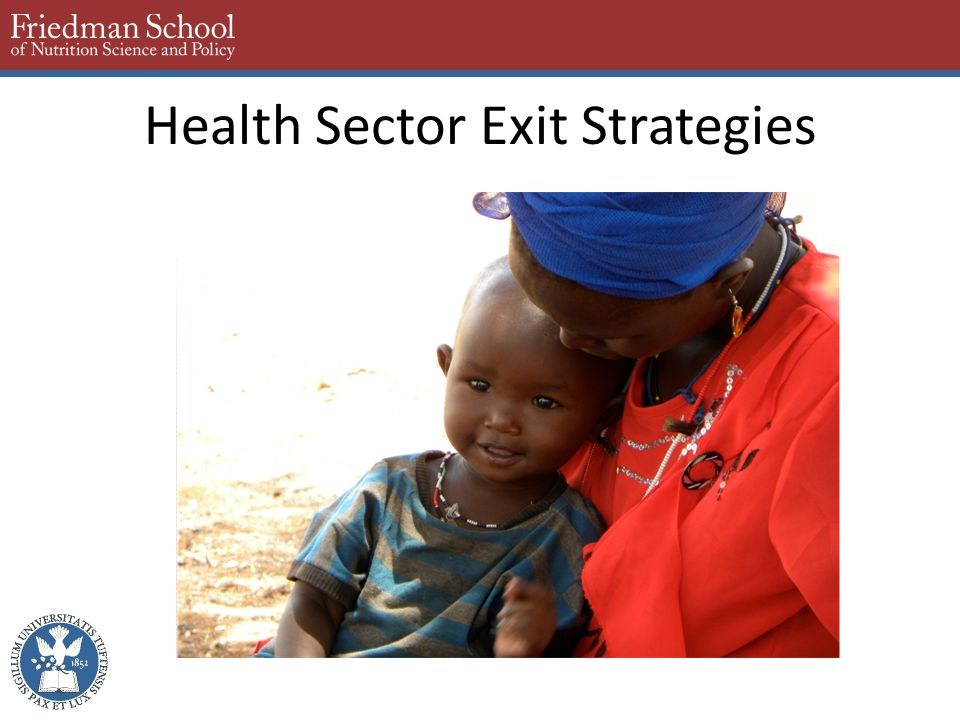 Health Sector Exit Strategies
