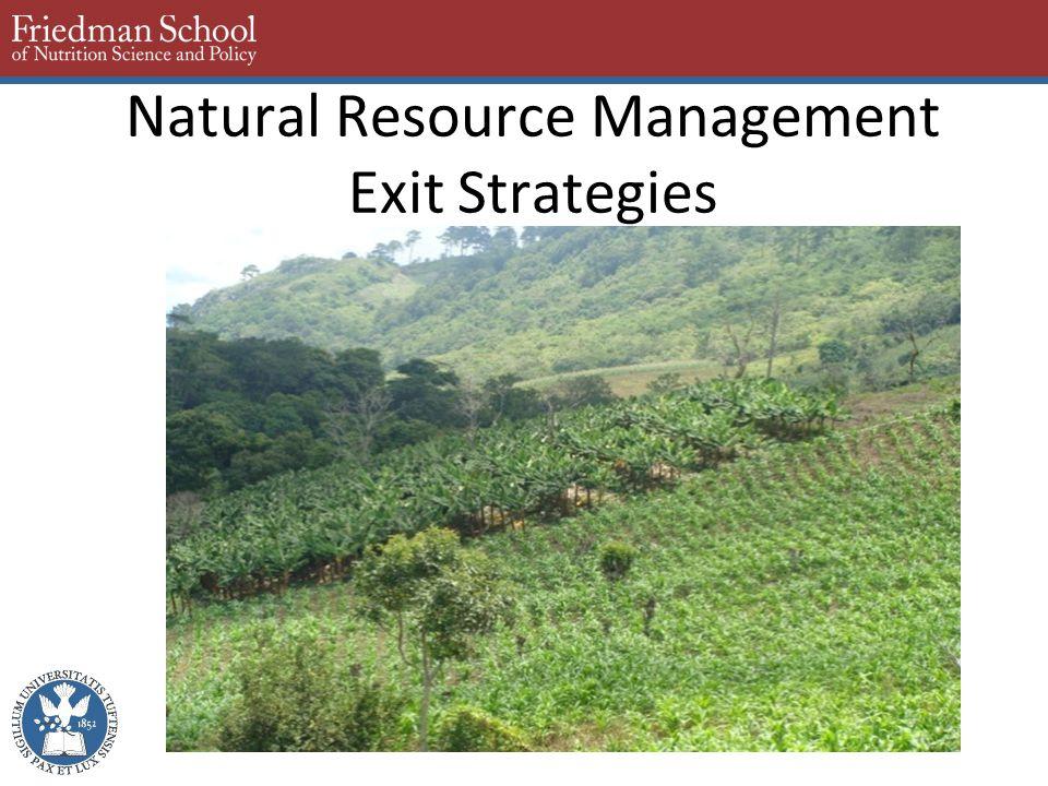 Natural Resource Management Exit Strategies