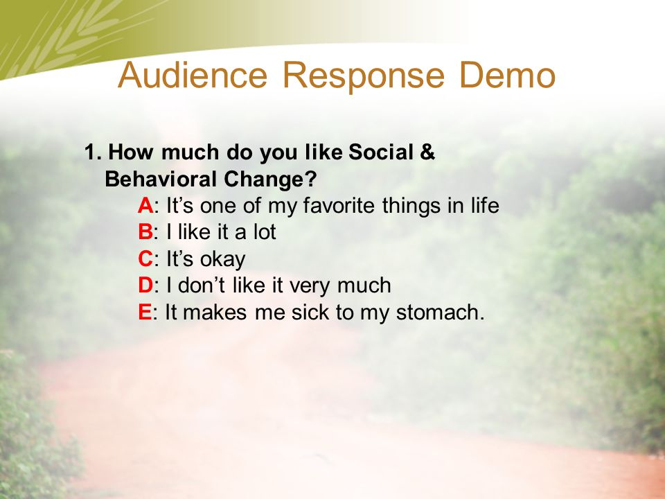 Audience Response Demo 2.