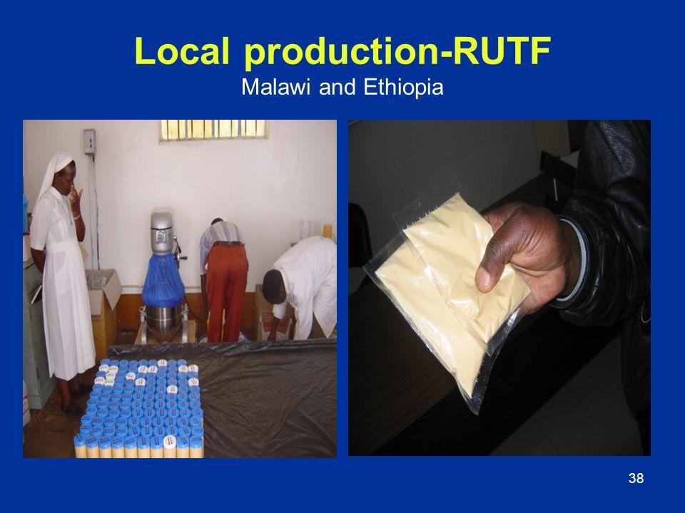 38 Local production-RUTF Malawi and Ethiopia