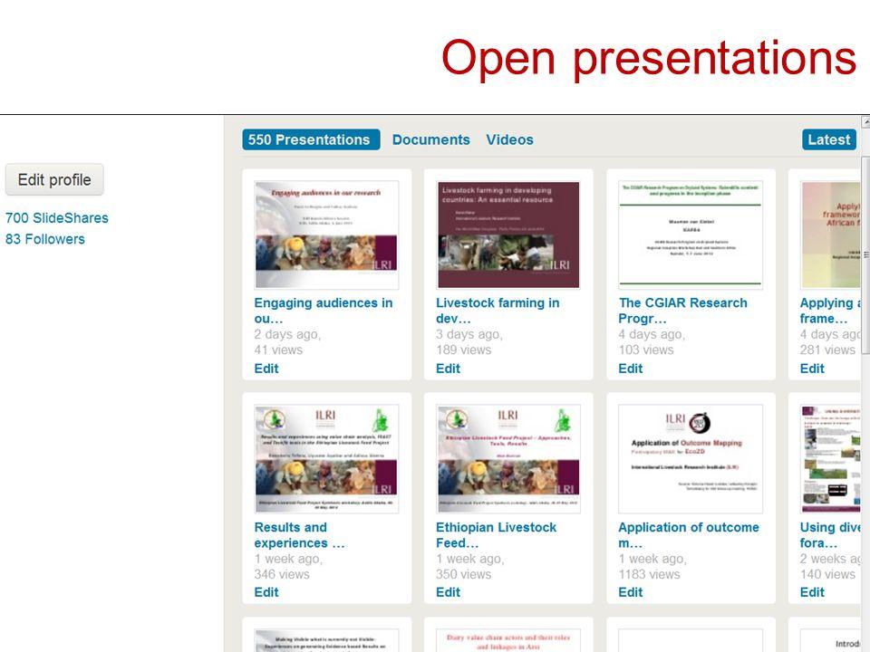 Open presentations