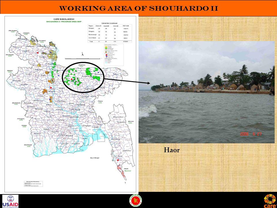 Working Area of SHOUHARDO II Haor