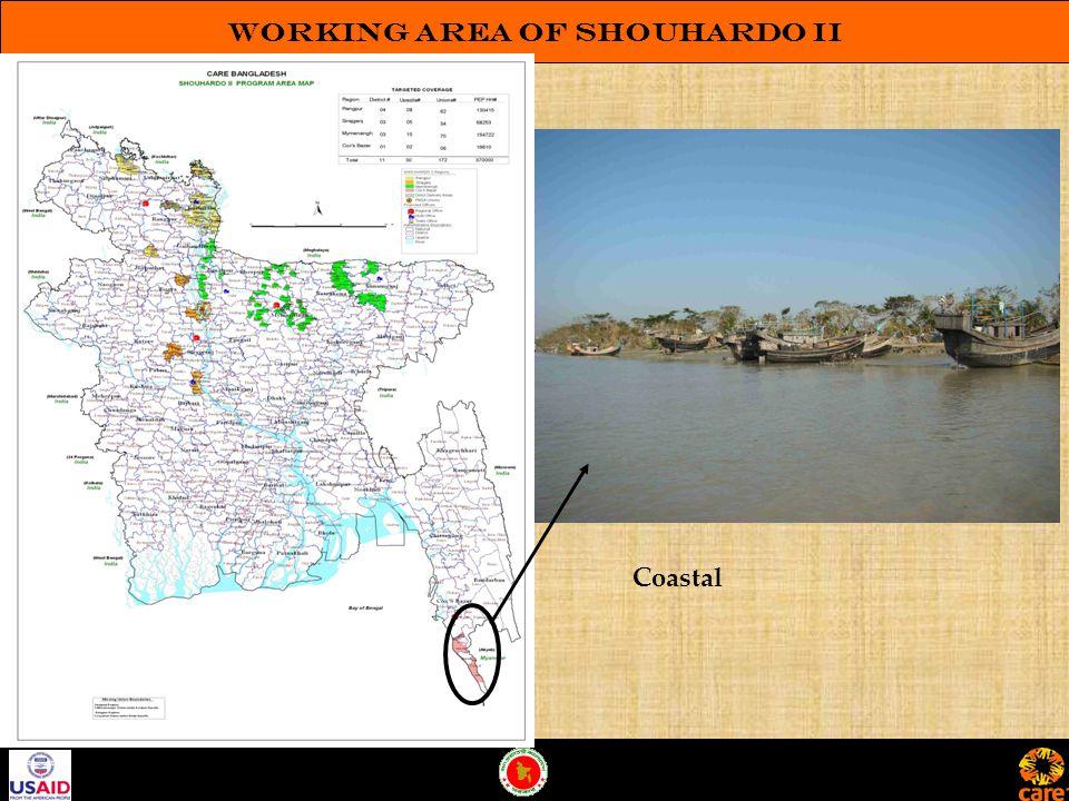 Working Area of SHOUHARDO II Coastal