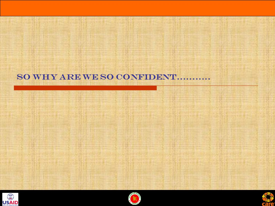 So why are we so confident………..