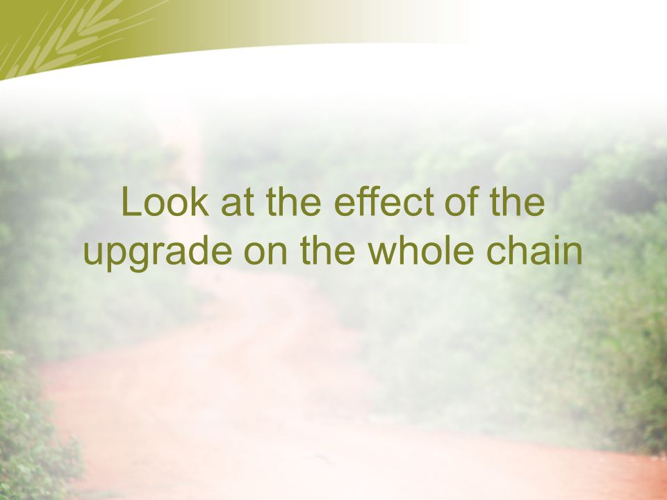 Look at the effect of the upgrade on the whole chain