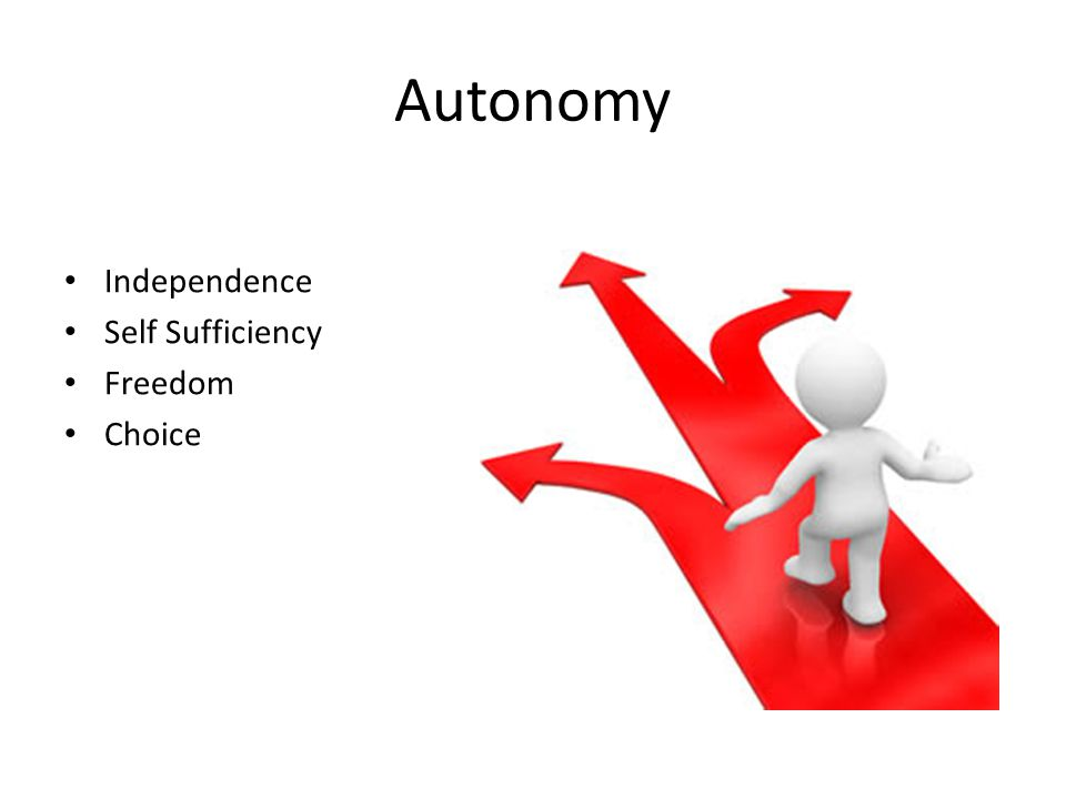 Autonomy Independence Self Sufficiency Freedom Choice
