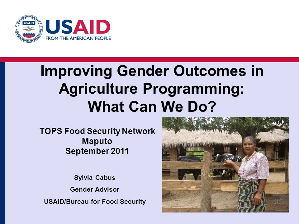 Improving Gender Outcomes in Agriculture Programming: What Can We Do.