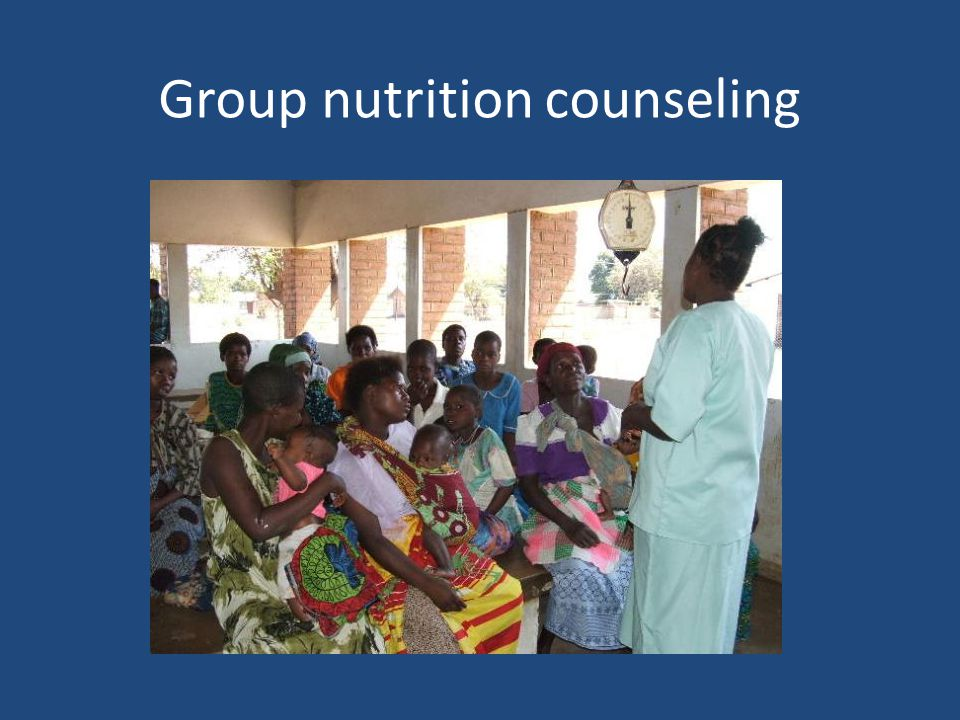 Group nutrition counseling
