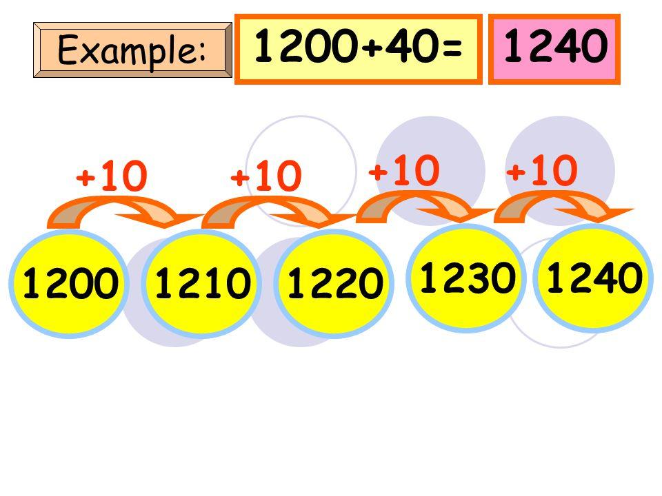 718728738 748 718+40=758 Example: +10 758 +10