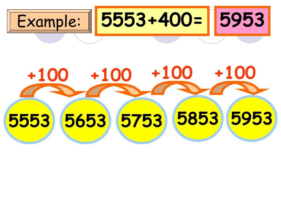 1450+400=1850 Example: 1450 +100 15501650 1750 +100 1850 +100